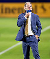 CARSON, CA - SEPTEMBER 27: Seattle Sounders manager Brian Schmetzer during a game between Seattle Sounders FC and Los Angeles Galaxy at Dignity Heath Sports Park on September 27, 2020 in Carson, California.