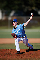Nick James during the WWBA World Championship at the Roger Dean Complex on October 21, 2018 in Jupiter, Florida.  Nick James is a left handed pitcher from Clarksville, Tennessee who attends Clarksville High School.  (Mike Janes/Four Seam Images)