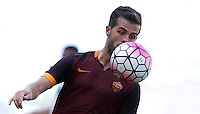 Calcio, Serie A: Roma vs Sassuolo. Roma, stadio Olimpico, 20 settembre 2015.<br /> Roma's Miralem Pjanic eyes the ball during the Italian Serie A football match between Roma and Sassuolo at Rome's Olympic stadium, 20 September 2015.<br /> UPDATE IMAGES PRESS/Isabella Bonotto
