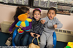 Preschool 3-4 year olds pretend play boy driving two girls