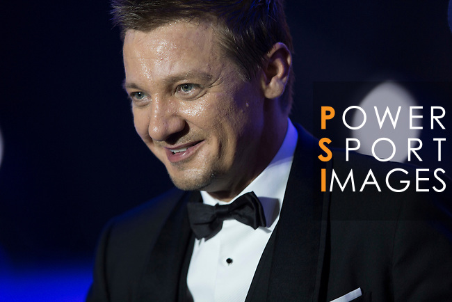 Jeremy Renner during the Opening Ceremony of the the World Celebrity Pro-Am 2016 Mission Hills China Golf Tournament on 20 October 2016, in Haikou, China. Photo by Victor Fraile / Power Sport Images
