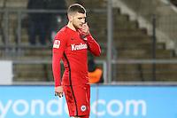 Ante Rebic (Eintracht Frankfurt) enttäuscht - 10.11.2016: FSV Frankfurt vs. Eintracht Frankfurt, Frankfurter Volksbank Stadion