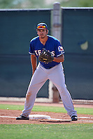 Texas Rangers Todd McDonald (79) during an instructional league game against the Seattle Mariners on October 5, 2015 at the Surprise Stadium Training Complex in Surprise, Arizona.  (Mike Janes/Four Seam Images)