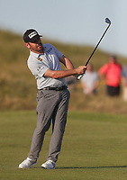 17th July 2021; Royal St Georges Golf Club, Sandwich, Kent, England; The Open Championship Golf, Day Three; Louis Oosthuizen (RSA) pitches his ball onto the 17th green