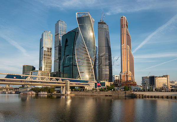 Business Center Moscow City at sunrise. Russia. 2015