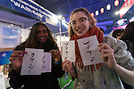 Foreign visitors pose for a picture during the Moshi Moshi Nippon Festival 2016 on November 26, 2016 in Tokyo, Japan. Moshi Moshi Nippon Festival 2016 aims to promote Japanese pop culture (fashion, anime, technology, music and food) to the world, and non-Japanese visitors are able to enter the event for free by showing their passport. This year's two day event included live shows by Japanese pop stars Silent Siren, Dempagumi.inc, Tempura Kids, Capsule and Kyary Pamyu Pamyu at the Tokyo Metropolitan Gymnasium. (Photo by Rodrigo Reyes Marin/AFLO)
