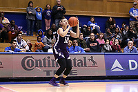 DURHAM, NC - NOVEMBER 17: Lindsey Pulliam #10 of Northwestern University takes a shot during a game between Northwestern University and Duke University at Cameron Indoor Stadium on November 17, 2019 in Durham, North Carolina.