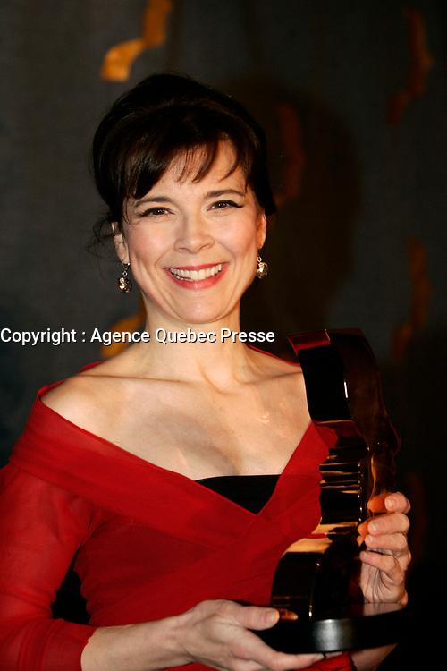 Anne Dorval, gagnante Gala G»meaux 2005<br /> Photo : (c) 2005 Pierre Roussel