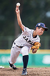 #3 Ono Ayumi of Japan serves during the BFA Women's Baseball Asian Cup match between Japan and Hong Kong at Sai Tso Wan Recreation Ground on September 5, 2017 in Hong Kong. Photo by Marcio Rodrigo Machado / Power Sport Images