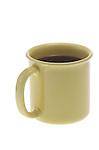 mug of coffee on shadowless white background