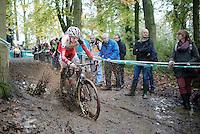 Michael Vanthourenhout (BEL/Sunweb-Napoleon Games) splashing around<br /> <br /> Superprestige Gavere 2014