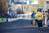 DVV Trofee Chaperon waiting the Women's Elite race finish. <br /> <br /> women's elite race<br /> Flandriencross Hamme / Belgium 2017