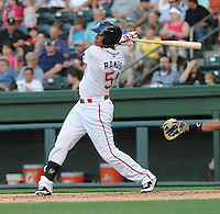 Right fielder Henry Ramos (51) of the Greenville Drive in a game against the Lexington Legends on May 2, 2012, at Fluor Field at the West End in Greenville, South Carolina. Lexington won, 4-2. (Tom Priddy/Four Seam Images)