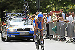 Johan Vansummeren (BEL) Garmin-Transitions in action during Stage 19 of the 2010 Tour de France an individual time trial running 52km from Bordeaux to Pauillac, France. 24th July 2010.<br /> (Photo by Eoin Clarke/NEWSFILE).<br /> All photos usage must carry mandatory copyright credit (© NEWSFILE | Eoin Clarke)