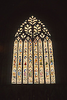 York: York Minster--West window--stained glass. Photo '90.