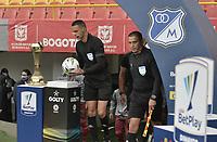 BOGOTA - COLOMBIA, 20-06-2021: Carlos Ortega, árbitro, durante partido por la final vuelta entre Millonarios F.C. y Deportes Tolima como parte de la Liga BetPlay DIMAYOR I 2021 jugado en el estadio Nemesio Camacho El Campin de la ciudad de Bogotá. / Carlos Ortega, referee, during second leg final match between Millonarios F.C. and Deportes Tolima as part of BetPlay DIMAYOR League I 2021 played at the Nemesio Camacho El Campin Stadium in Bogota city. Photo: VizzorImage / Gabriel Aponte / Staff.