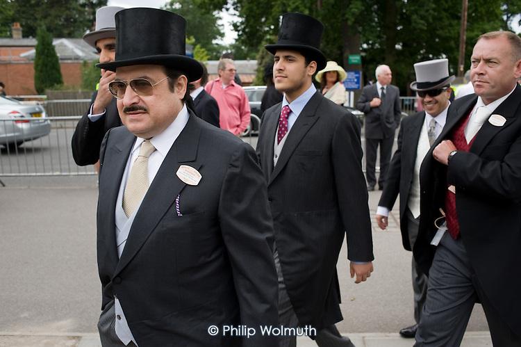 Prince Mohammed Bin Nawaf, Saudi Arabian ambassador to the UK, enters the Royal Enclosure at Ascot racecourse.