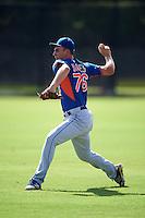 GCL Mets pitcher Christian James (76) throws in the outfield before the first game of a doubleheader against the GCL Astros on August 5, 2016 at Osceola County Stadium Complex in Kissimmee, Florida.  GCL Astros defeated the GCL Mets 4-1 in the continuation of a game started on July 21st and postponed due to inclement weather.  (Mike Janes/Four Seam Images)