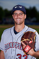 Mahoning Valley Scrappers pitcher Matt Esparza (33) poses for a photo before a game against the Batavia Muckdogs on July 3, 2015 at Dwyer Stadium in Batavia, New York.  Batavia defeated Mahoning Valley 7-4.  (Mike Janes/Four Seam Images)