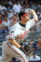 Baltimore Orioles pitcher Troy Patton #40 during game against the New York Yankees at Yankee Stadium on September 5, 2011 in Bronx, NY.  Yankees defeated Orioles 11-10.  Tomasso DeRosa/Four Seam Images