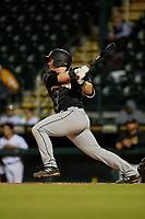 Jupiter Hammerheads Gunnar Schubert (4) bats during a Florida State League game against the Bradenton Marauders on April 19, 2019 at LECOM Park in Bradenton, Florida.  Bradenton defeated Jupiter 7-1.  (Mike Janes/Four Seam Images)