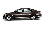 Car Driver side profile view of a 2016 Skoda Superb Ambition 5 Door Hatchback Side View