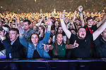 © Joel Goodman - 07973 332324 . No Editorial syndictaion permitted . 09/09/2017. Manchester , UK . The crowd cheer during a minute's applause . We Are Manchester reopening charity concert at the Manchester Arena with performances by Manchester artists including  Noel Gallagher , Courteeners , Blossoms and the poet Tony Walsh . The Arena has been closed since 22nd May 2017 , after Salman Abedi's terrorist attack at an Ariana Grande concert killed 22 and injured 250 . Money raised will go towards the victims of the bombing . Photo credit : Joel Goodman
