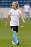 Chicago, IL - Sunday Sept. 04, 2016: Julie Johnston prior to a regular season National Women's Soccer League (NWSL) match between the Chicago Red Stars and Seattle Reign FC at Toyota Park.