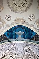 Europe/France/Rhône-Alpes/74/Haute Savoie/ Evian: Salle  du restaurant avec les fresques de Gustave Jaulmes au Royal Hôtel