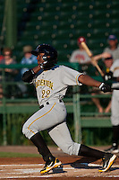 Quincy Latimore of the Bradenton Marauders during the game at Jackie Robinson Ballpark in Daytona Beach, Florida on August 3, 2010. Photo By Scott Jontes/Four Seam Images