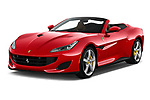2019 Ferrari Portofino base 2 Door Convertible angular front stock photos of front three quarter view