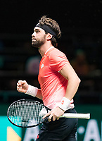 Rotterdam, The Netherlands, 14 Februari 2019, ABNAMRO World Tennis Tournament, Ahoy, Nikoloz Basilashvili (GEO) <br /> Photo: www.tennisimages.com/Henk Koster