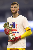 LAS VEGAS, NV - AUGUST 1: Matt Turner #1 of the United States after a game between Mexico and USMNT at Allegiant Stadium on August 1, 2021 in Las Vegas, Nevada.