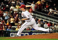 21 June 2010: Washington Nationals' pitcher Matt Capps closes out a game against the Kansas City Royals at Nationals Park in Washington, DC. The Nationals edged out the Royals 2-1 in the first game of their 3-game interleague series, snapping a 6-game losing streak. Mandatory Credit: Ed Wolfstein Photo