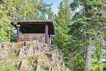Mountain Cabana.  Vista House, Ohme Gardens, Wenatchee, Chelan County, Washington, USA.