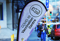 COVID-19 vaccinations on Victoria Street, Wellington CBD, at 2pm during Level 4 lockdown for the COVID-19 pandemic in Wellington, New Zealand on Wednesday, 25 August 2021.