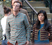 September 24, 2021. Scoot McNairy, Constance Wu filming on location for  Sony pictures Lyle Lyle Crocodile<br />   in New York September 24, 2021 Credit:RW/MediaPunch