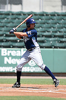 GCL Rays outfielder Cade Gotta (16) at bat during a game against the GCL Red Sox on June 25, 2014 at JetBlue Park at Fenway South in Fort Myers, Florida.  GCL Red Sox defeated the GCL Rays 7-0.  (Mike Janes/Four Seam Images)