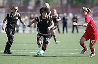 Eriko ArakawaEriko Arakwa (30) and Becky Sauerbrunn (22). Washington Freedom defeated FC Gold Pride 4-3 at Buck Shaw Stadium in Santa Clara, California on April 26, 2009.