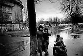 Nizhniy Novgorod, Russia  .October 1997.Daily life near the GAZ factory in the industrial area of N. Novgorod. Life here remains hard as the factory is still in a survival period. Many workers still have their jobs but the salary is low compared to the cost of living..
