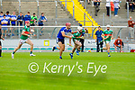Tussle for possession between St Brendan's Fionan Mackessy and Barry O'Mahony of Crotta in the County Senior Hurling Championship quarter final