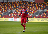 7th November 2020; Brentford Community Stadium, London, England; English Football League Championship Football, Brentford FC versus Middlesbrough; Goalkeeper Marcus Bettinelli of Middlesbrough