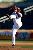 Nick Petree (10) of the Missouri State Bears delivers a pitch during a game against the Southern Illinois University- Edwardsville Cougars at Hammons Field on March 9, 2012 in Springfield, Missouri. (David Welker / Four Seam Images)