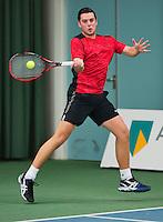 Rotterdam, Netherlands, Januari 24, 2016,  ABNAMROWTT Supermatch, Daan Maasdam (NED)<br /> Photo: Tennisimages/Henk Koster