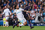 Marcelo Vieira Da Silva of Real Madrid fights for the ball with Davinson Sanchez of Tottenham Hotspur FC  (R) during the UEFA Champions League 2017-18 match between Real Madrid and Tottenham Hotspur FC at Estadio Santiago Bernabeu on 17 October 2017 in Madrid, Spain. Photo by Diego Gonzalez / Power Sport Images