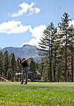 August 5, 2012:  Alexandre Rocha from Sao Paulo, Brazil hits an approach shot on the 5th hole during the final round of the 2012 Reno-Tahoe Open Golf Tournament at Montreux Golf & Country Club in Reno, Nevada.