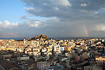 Greece, Corfu, Corfu-Town (Kerkyra): View from the New Fortress to the Old Fortress and Church of Saint Spyridon