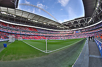 General view of Wembley Stadium ahead of the Capital One Cup match between Liverpool and Manchester City at Wembley Stadium, London, England on 28 February 2016. Photo by David Horn / PRiME Media Images.