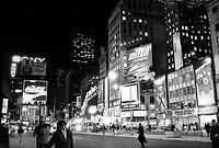 January ,1987 File Photo - New-York (NY) USA - Time Square at night