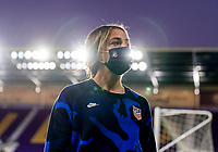 ORLANDO, FL - JANUARY 18: Mallory Pugh #2 of the USWNT walks off the field before a game between Colombia and USWNT at Exploria Stadium on January 18, 2021 in Orlando, Florida.